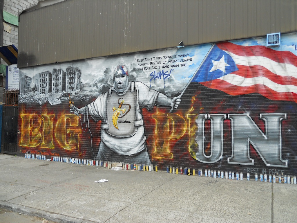 Top ten nyc public art installations popten for Big pun mural bronx