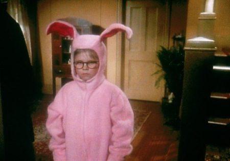a christmas story bunny pajamas theveliger