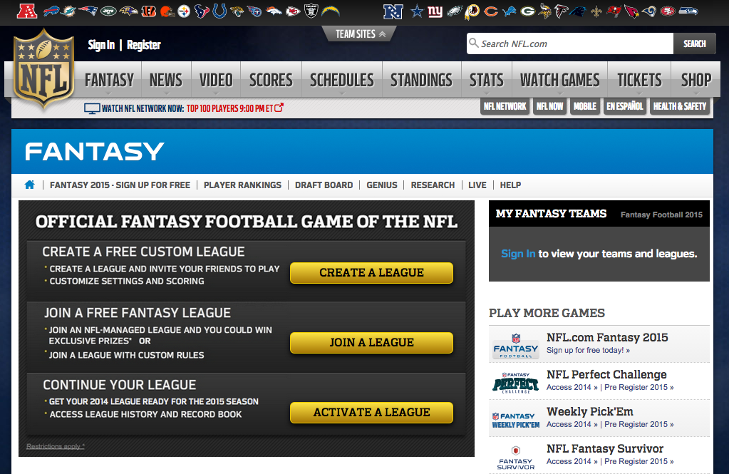 Fantasy Football Free Fantasy Football for 2014 Season NFL.com