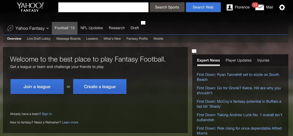 Fantasy Football Yahoo Sports