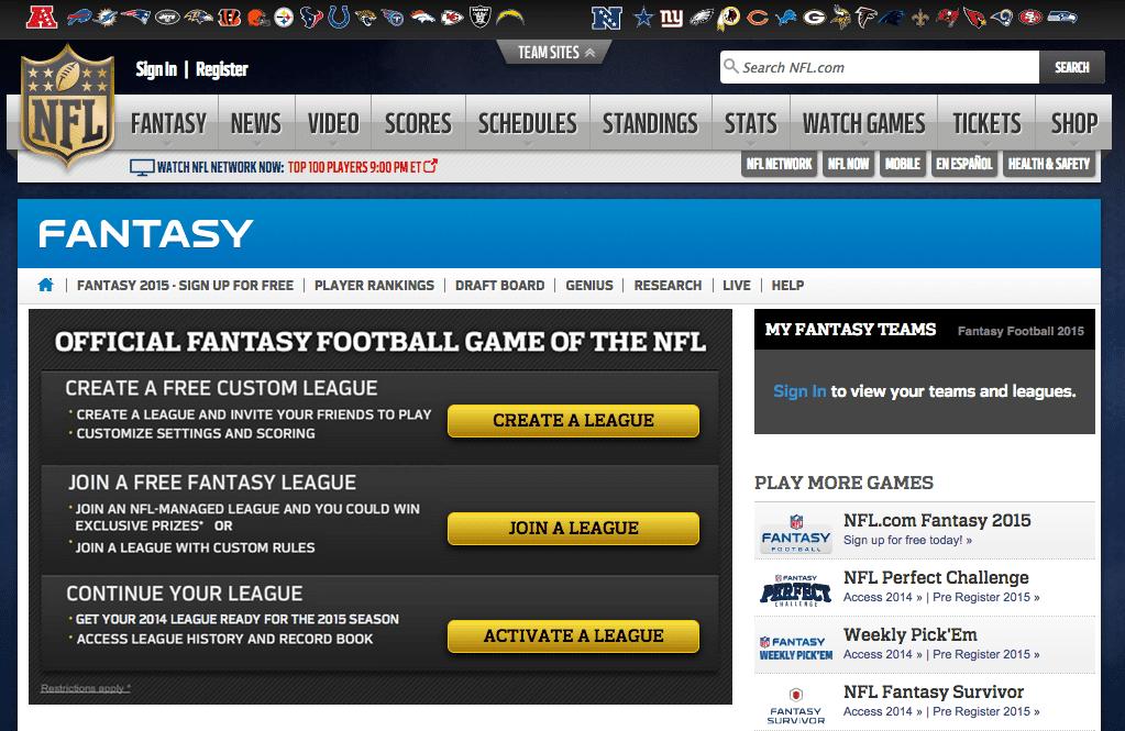 Fantasy Football Free Fantasy Football for 2014 Season NFL.com